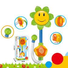 2017 baby bath toys children sunflower shower faucet bath learning