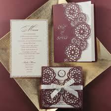 wedding invitations glitter personalised luxury laser cut wedding invitations day evening