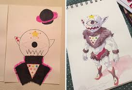 dad turns his sons u0027 doodles into amazing anime characters bored