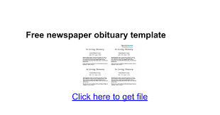 sle funeral programs free newspaper obituary template docs