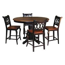 Pub Dining Room Set by 5 Piece Pub Table Set Baxton Studio Leeds 5piece Wood Collapsible