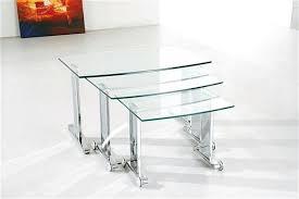 buy nest of tables glass nest of tables glass nesting side tables black glass nest