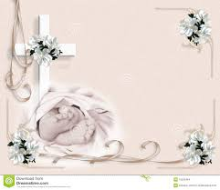 Baptismal Invitation Card Design Christening Baptism Invitation Stock Images Image 15526464