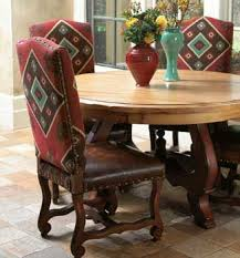 southwestern dining room furniture love the fabric mixed with leather western southwest