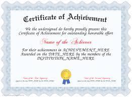achievement certificates templates free certificate of achievement