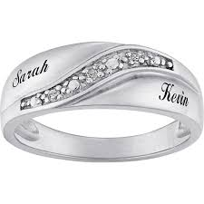 modern wedding rings for men shocking personalized sterling silver diamond accent name wedding