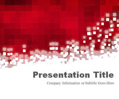 free professional powerpoint template pixels red free abstract