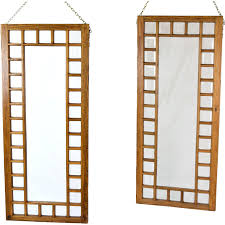 large room dividers pair antique oak framed beveled glass windows hanging room