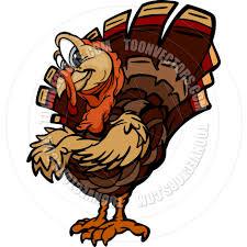 cartoon turkeys for thanksgiving happy thanksgiving holiday turkey cartoon vector illustration by