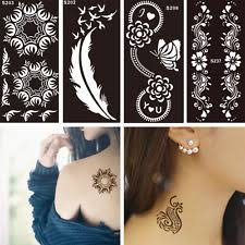 henna stencils tattoos u0026 body art ebay