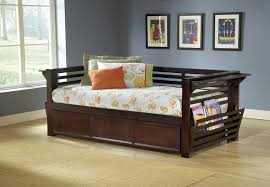 furniture brown wood space saver trundle daybed