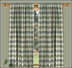 Navy Blue Plaid Curtains Endearing Blue Plaid Kitchen Curtains Decorating With White