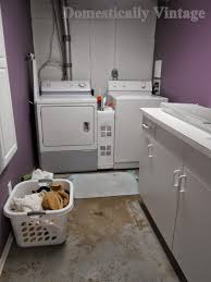domestically vintage a little laundry room make over