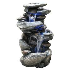 waterfalls for home decor alpine indoor outdoor cascading rock waterfall fountain with light