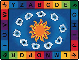 sunny day learn u0026 play classroom rug cfk94xx carpets for kids