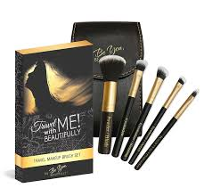 amazon com best 5 piece travel makeup brush set plus bonus