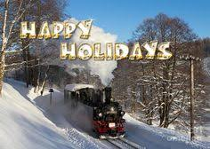 christmas train greeting card for sale by christian spiller