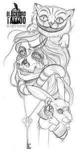 zombie alice in wonderland tattoo my other thigh maybe skin