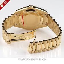 solidswiss cd rolex day date ii yellow gold replica
