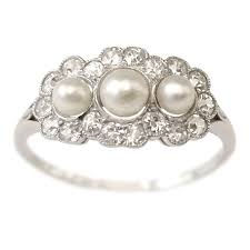 pearl and diamond engagement rings vintage pearl rings pearl engagement rings options