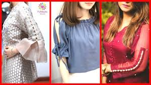 sleeves shoulder cuts designs for trendy