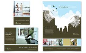 urban real estate flyer u0026 ad template word u0026 publisher