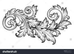 royalty free vintage baroque frame scroll ornament 241978777