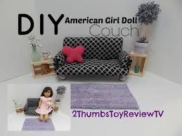 How To Make Dollhouse Furniture Out Of Household Items Diy American Doll Couch Youtube
