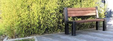 public bench garden contemporary recycled plastic hyde