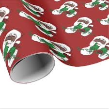 custom christmas wrapping paper american black santa claus christmas wrapping paper