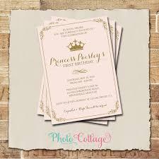 1st birthday princess invitation royal birthday invitation princess birthday party royal ball