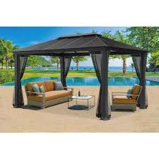 Gazebo For Patio Patio Gazebos Sheds Garages Outdoor Storage The Home Depot