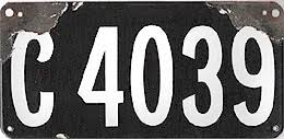 Ct Vanity License Plate Lookup Illustrated History Of Connecticut License Plates Passenger 1905