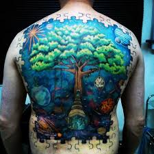 70 puzzle piece tattoo designs for men inquisitive mind ink