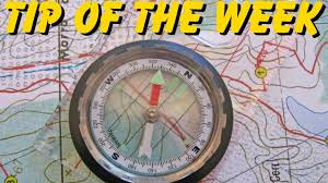 Map Of The United States With Compass by Tip Of The Week