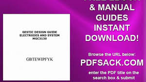 gestic design guide electrodes and system mgc3130 video dailymotion