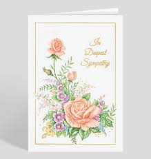 condolences greeting card sympathy cards the gallery collection