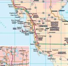 florida towns map southeast florida road map showing towns cities and highways