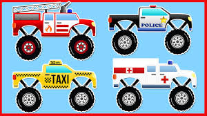bigfoot presents meteor and the mighty monster trucks monster trucks formation and stunts fire truck police car