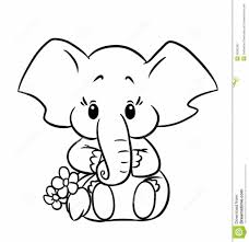 baby elephant coloring pages download print free cute