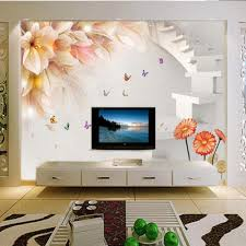 online get cheap lily wallpaper aliexpress com alibaba group 3d photo wallpaper butterfly lily mural wallpapers for living room 3 d wall paper flower murals