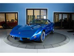 vintage corvette blue 1976 chevrolet corvette for sale on classiccars com