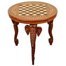 Elephant Side Table Anglo Indian Side Table Inlaid With Of Pearl And Elephant