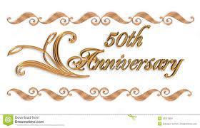 50 year wedding anniversary 50th anniversary invitation stock illustration illustration of