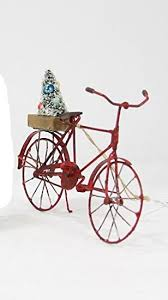 foster tin bicycle ornament with tree
