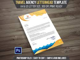 travel agency letterhead template free download graphic design
