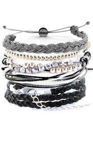 Shades Of Gray Bracelet Set Shades Of Gray Domo Beads
