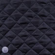 polyester quilted padded lining fabric black