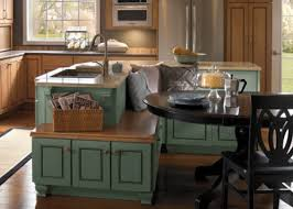 center islands with seating island with bench seating in center of a kitchen for the home