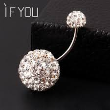 ball rings images If you trendy ball white crystal navel ring stainless steel jpeg
